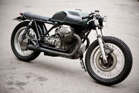 Another build by the Danish wizards at Wrenchmonkees. It's based on a 850 T, but roadsterized with typical WM trademarks: Stripped to its bones, no front fender, wrapped exhaust pipes, coarse tyres - very slick!