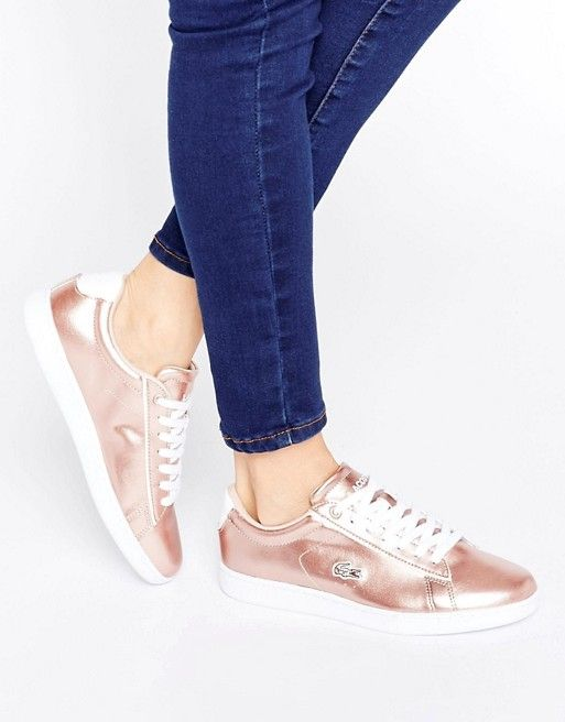 Lacoste Carnaby Evo Metallic Sneakers at asos.com - EVERY one needs a pair of dressy sneakers for when you JUST CAN'T.