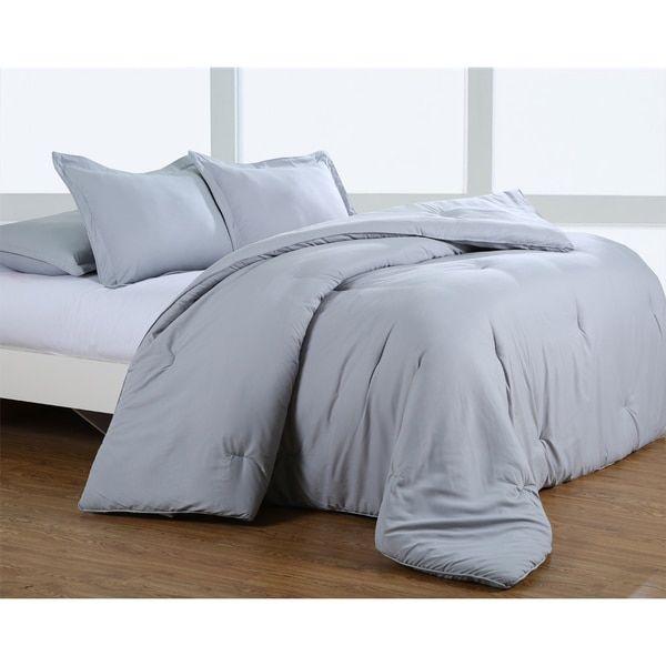 Silver Grey Greek Key Embossed Microfiber Plush Comforter Set