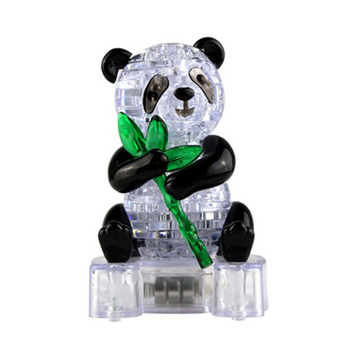 Coolplay Crystal Puzzle Cute Panda Model Puzzle Popular Kids Toys DIY Building Toy Gift Gadget Crystal 3D Puzzle #Affiliate
