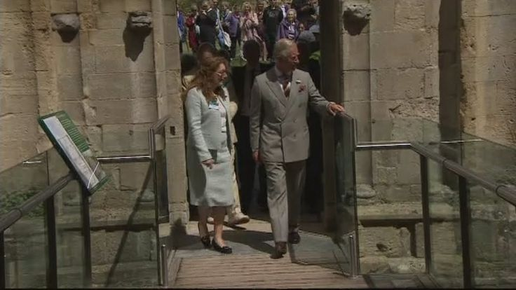 Prince Charles visits Glastonbury Abbey