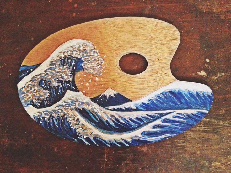 The Great Wave of Kanagawa #PaintersPalette #Hokusai