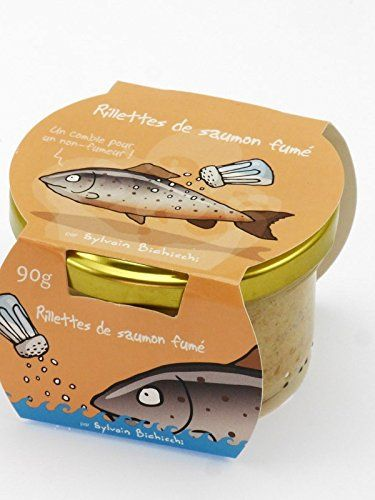 Rillettes de saumon fumé au sel de Guérande: Caractéristiques : Ingrédients : Saumon (dont 27% de saumon fumé) (poisson), crème(lait),…