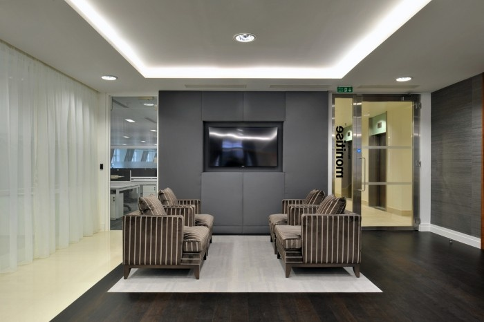 Monitises New Collaborative London Headquarters outfitted by Morgan Lovell.  Morgan Verona Collection.
