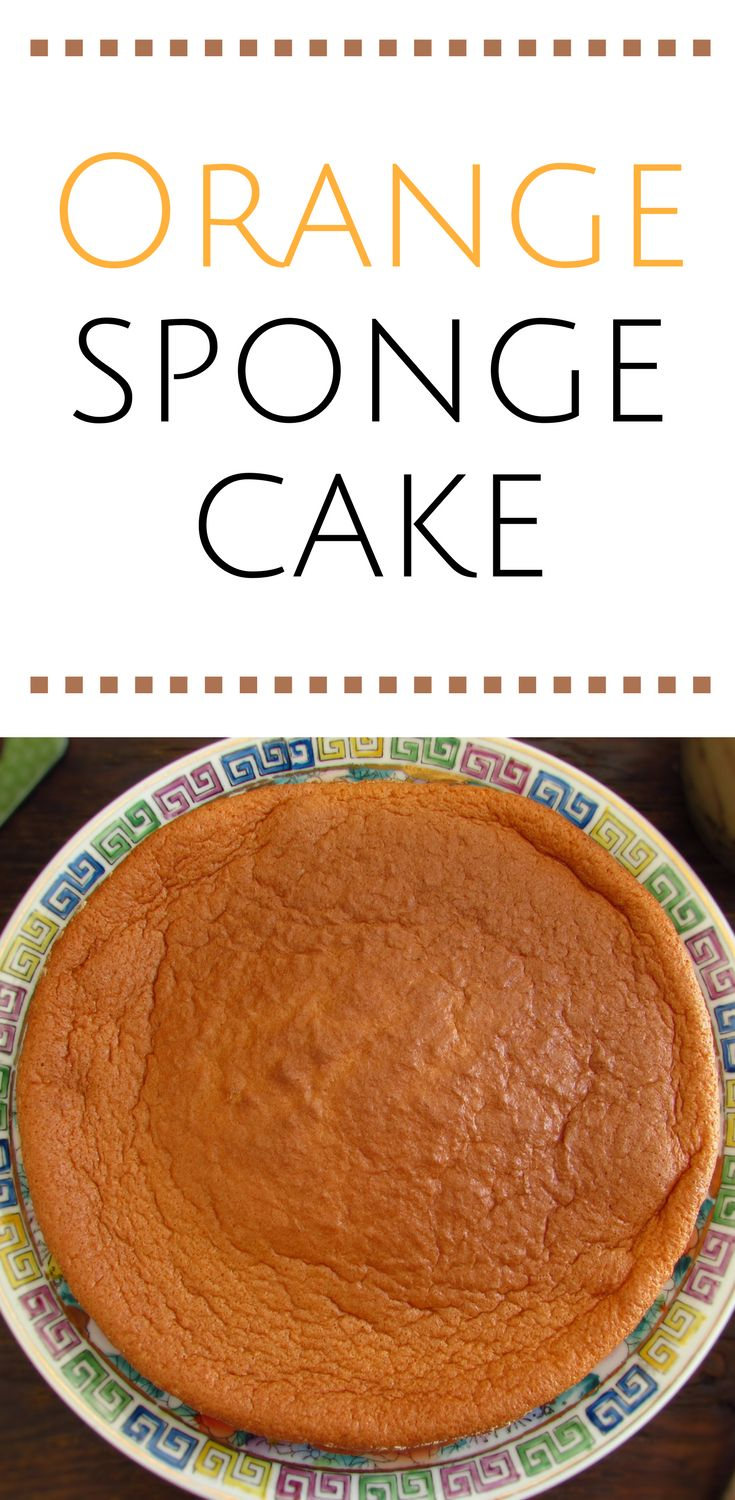 Orange sponge cake | Food From Portugal. Want to prepare a quick and simple cake for the snack? This sponge cake is fluffy and has the delicious and pleasant orange aroma! You gonna love the taste, try it you won't regret… #cake #recipe