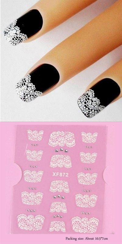 Nails & Manicure | DIY 3D Lace Style Nail Art Decoration Sticker $1.14