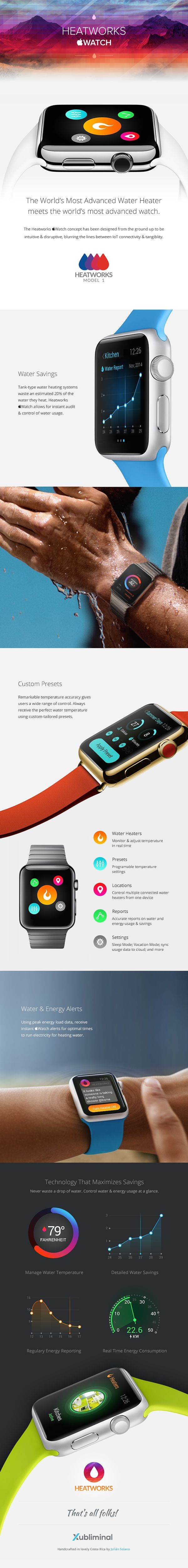 Heatworks Apple Watch App on Behance
