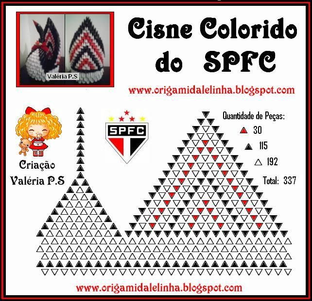 3d Origami Colorful Swan Do Https Sites Google Com Site 3dorigamiforfun Instructions Huong Dan