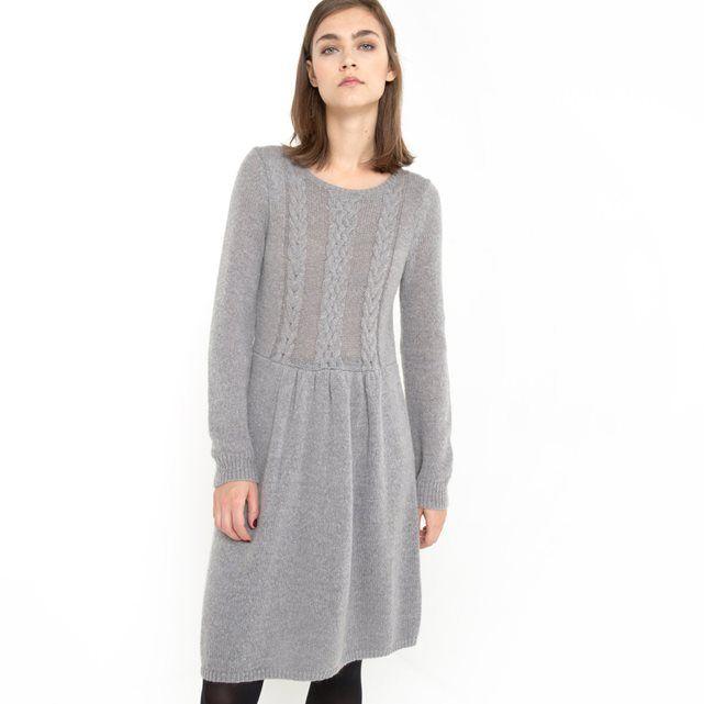 """Платье из трикотажа с узором """"косы"""" спереди R essentiel"""