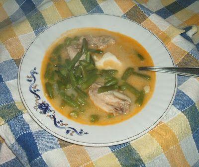 Egészséges ételek - egészségesen elkészítve: Tejfölös zöldbableves csirkeaprólékra