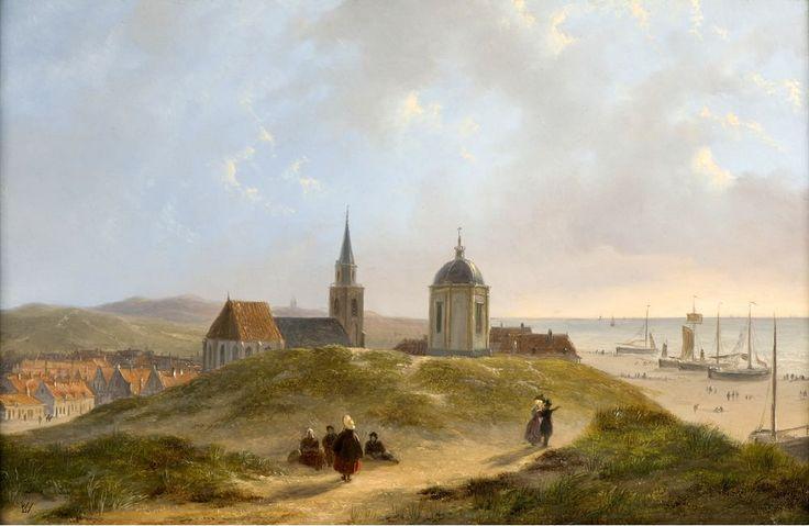 Bartholomeus Johannes van Hove (1790-1880). Een panorama van het oude dorp van Scheveningen.