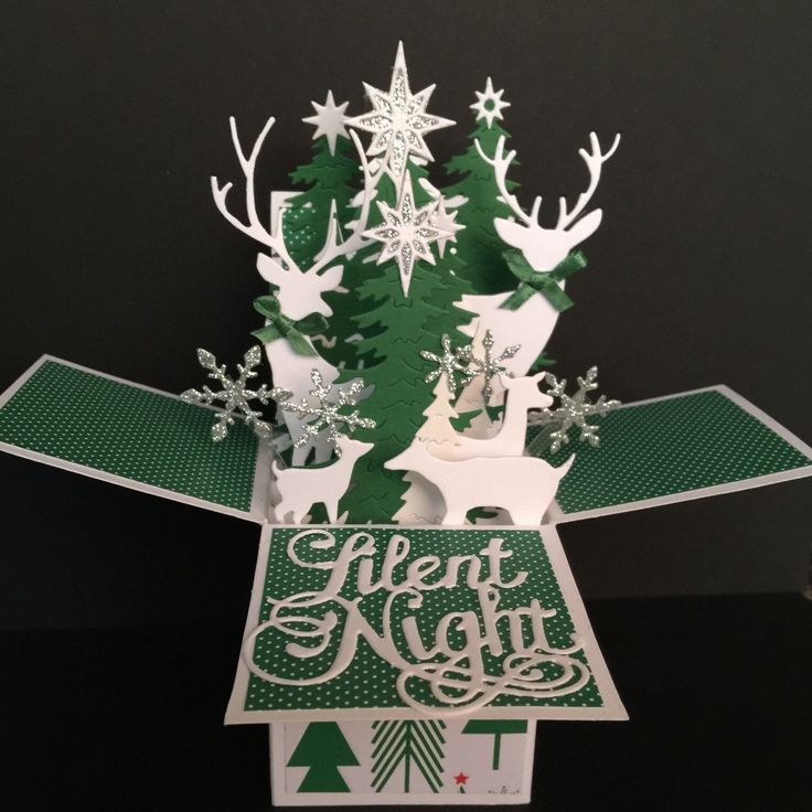 """Back by popular demand - more deer cards! Pop up cards fold flat for easy mailing. They can also double as gift card or cash """"holders"""" - many customers add a gift card to the back or side flaps of the card or roll up cash and hide it in the box!"""