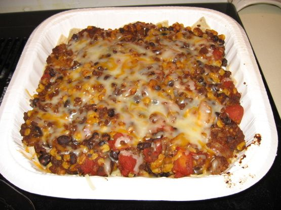 This is a delicious Mexican Casserole recipe with only 6.5 weight watcher points per LARGE serving!  YUM!  (on the new, Points Plus system of Weight Watchers, this recipe is 9 points)