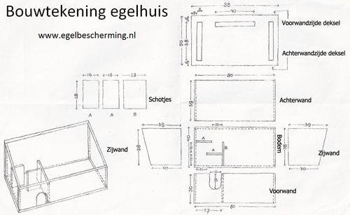 bouwtekening egelhuis Ga ik zelf maken!! A design to make a home for a hedgehog, in your garden.