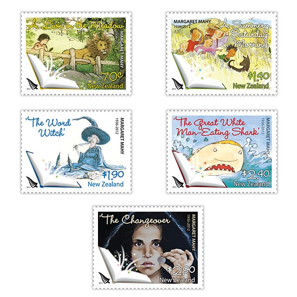Pay tribute to New Zealand author Margaret Mahy with these special stamps from New Zealand Post.     You can take a look at the full range of stamp products in this issue here: http://stamps.nzpost.co.nz/issue/margaret-mahy-1