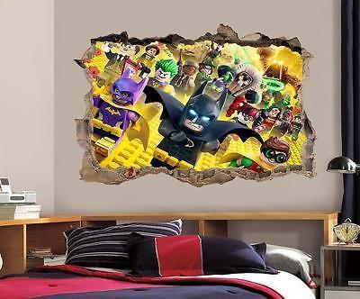 Lego Batman película destrozada Calcomanía Gráfico Pared Adhesivo Decoración Hogar Arte de Mural J140