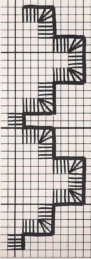 Всем, кто вяжет, дарю старые идеи для новых работ Curtain # 1 pattern part A