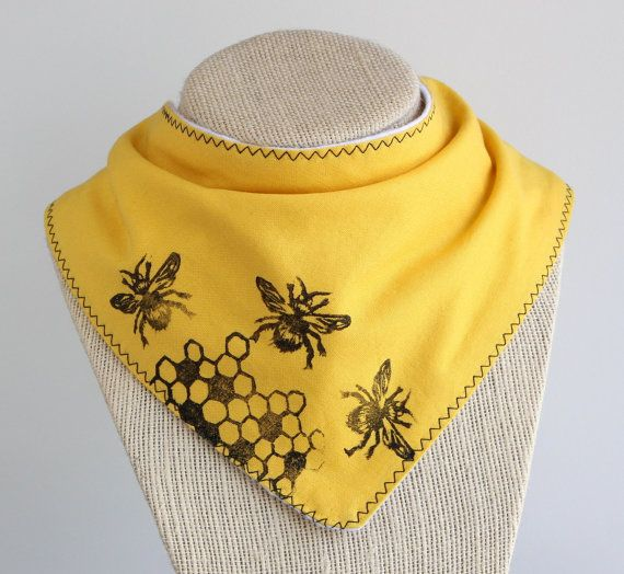 Hey, I found this really awesome Etsy listing at https://www.etsy.com/listing/277713250/yellow-honey-bee-babytoddler-drool-bib