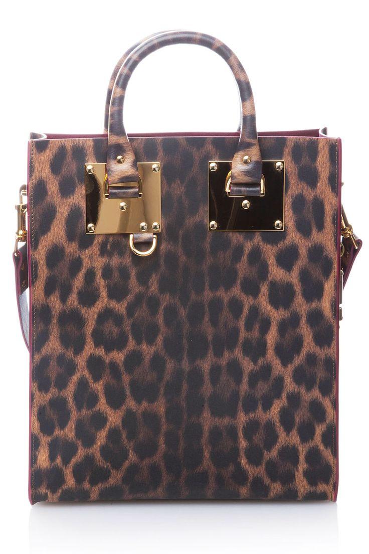 SOPHIE HULME - Сумка из плотнойматовой кожис леопардовым принтом в Интернет-магазине NAME'S