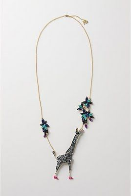 "anthropologie necklace | shopping out loud.: anthropologie jeweled ""re-run"" giraffe necklace"