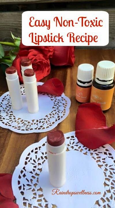 Homemade easy to make non toxic red lipstick