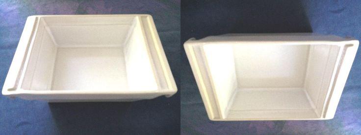 Bennington Pottery VT White 2 Piece Baking serving bowl dishes Unique Shape Mark | eBay