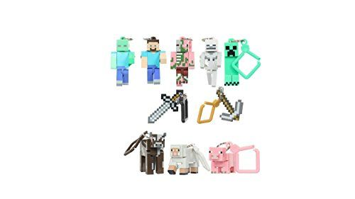 10 pcs keychain toys 2015 New online game creeper zombie steve sword anime figurines collectibles fo @ niftywarehouse.com #NiftyWarehouse #Minecraft #Geek #Gaming #VideoGames
