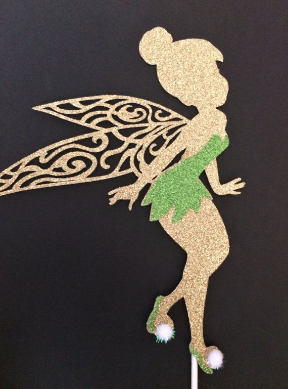Disneys Tinkerbell cake topper,girls,peter pan,Tinkerbell birthday cake topper,Centerpiece,Party decorations, 1-Ct.