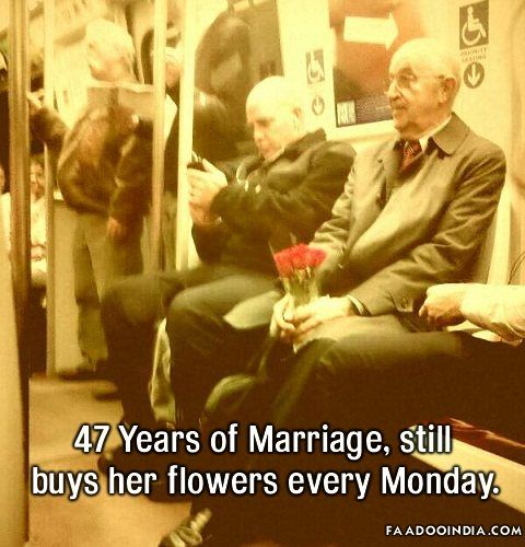 47 Years of Marriage, still buys her flowers every Monday / Love It!