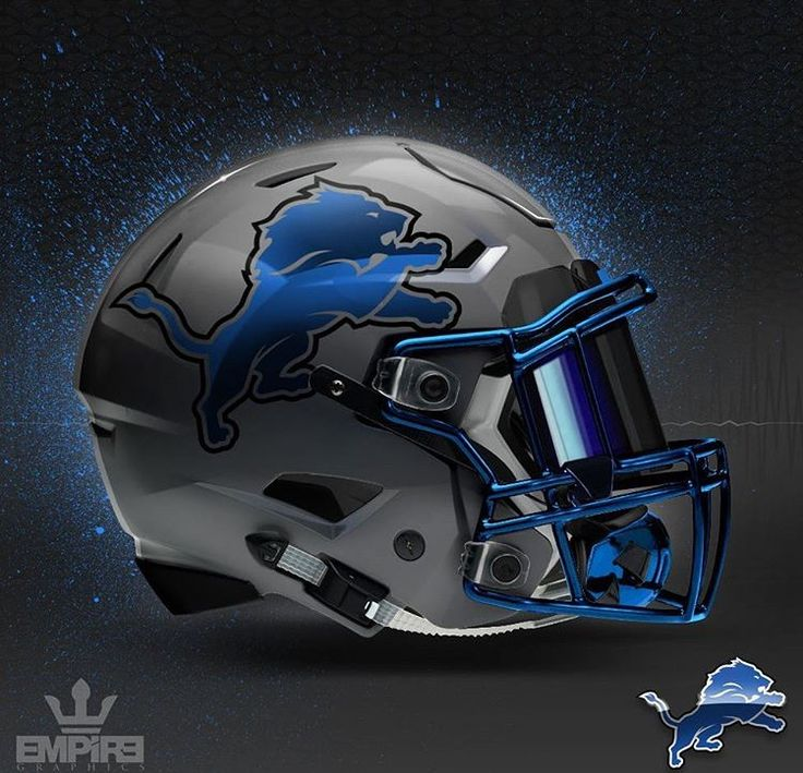 Detroit Lions Concept Design football helmet