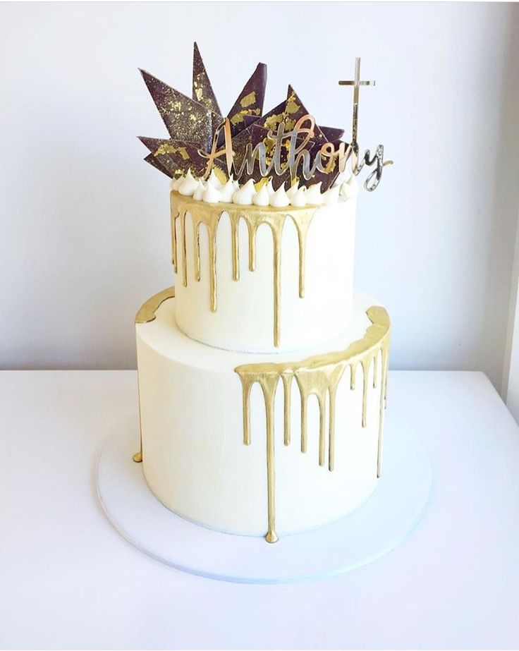 @ivyandstonecakedesign Baptismal or Baby Dedication cake