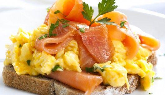 Frühstück Lachs-Rührei