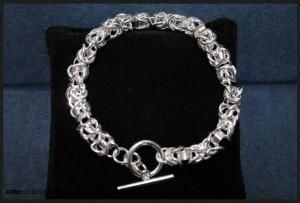 925 Sterling Silver Layered Knotted Links Bracelet