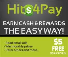 Still Reading Commercial Emails For Free?  Receive Emails On Topics That Interests You  And Get Paid For It!  If you have access to your own email account, you  can get paid. Refer others and get paid up to two levels.   Hits4Pay is one of very few highest paying advertising  program in the industry.  Signup for free and receive $5 as a Free Reward: http://hits4pay.com/members/index.cgi?Frosttick