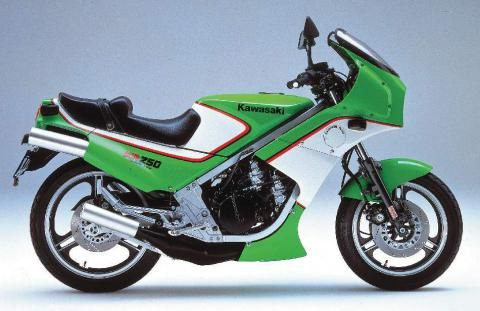 1987 KAWASAKI KR250 Age22.Two-stroke machines second one.It was like very good machine,but in the crash scrapped.