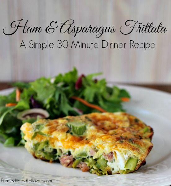 Ham and Asparagus Frittata – A Naturally #glutenFree Easy Weeknight Dinner Recipe