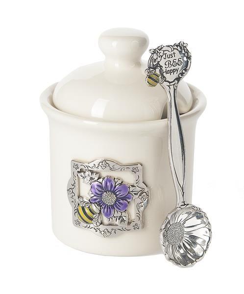 Ganz Condiment Jar With Spoon