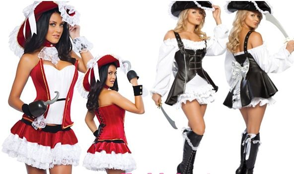 Красивый новогодний костюм пирата со шляпой