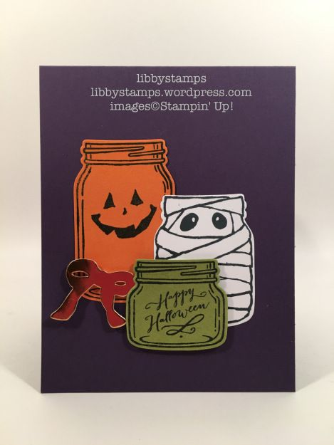 libbystamps, stampin up, Jar of Haunts, Copper Foil Sheets, Everyday Jars Framelits , We Create, Confetti EF, Halloween, Holiday Mini 2016