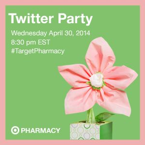 Please join us for the Target Pharmacy Twitter Party. Date of twitter party is Wednesday April 30, 2014 at 8:30pm EST. Please be sure to follow @TARGETCANADA on twitter.  (image dimensions 300 x 300 pixels)