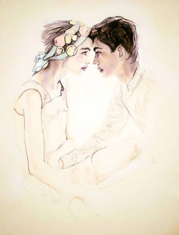 You & Me Forevermore 8X11  Fashion Illustration by DannyRoberts, $20.00