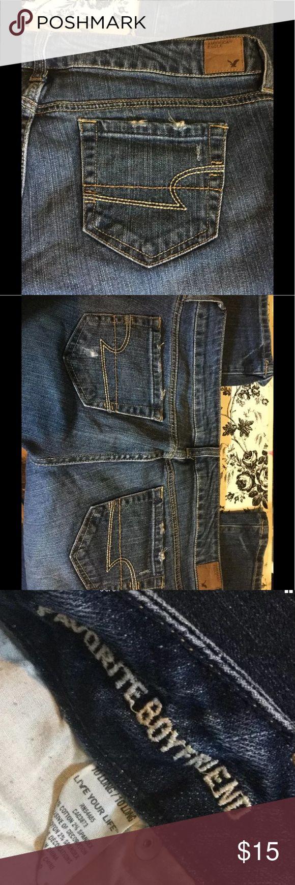 10 Long Tall Favorite Boyfriend Jeans American Eagle Outfitters AEO Ladies sz 10 Long Tall Favorite Boyfriend Jeans 35W34L American Eagle Outfitters Jeans Boyfriend