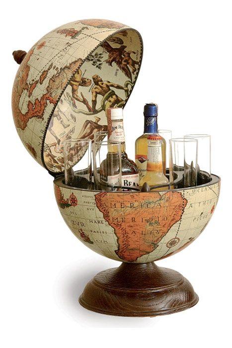 Mappemonde Globe terrestre bar de table safari vintage steampunk > JAPAN ATTITUDE - DECO0182   Shop : www.japanattitude.fr