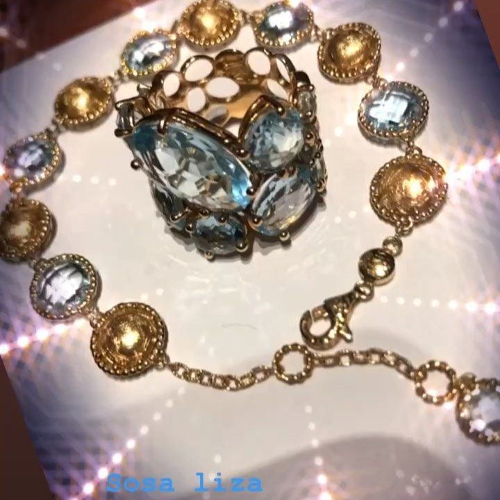 خاتم وإسورة صمما بقصات فنية إحترافية من أحجار الأكوا مارين Aqua Marin نقدم لعملائنا الكرام جودة فاخرة وأسعار منافسة مع خدمات ا Diamond Gift Gemstones Diamond
