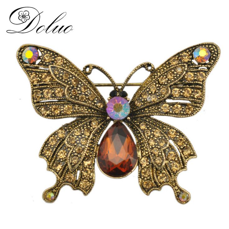 Cheap brooch jewelry, Buy Quality crystal brooch directly from China animal brooch Suppliers: Butterfly Animal Brooch Retro Animals Crystal Brooch Corsage Brooch Jewelry