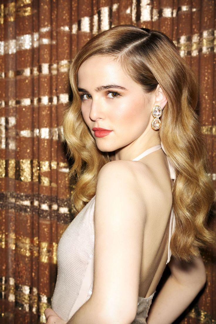 Golden Waves - Zoey Deutch wears her hair in bombshell waves with a La Perla swimsuit