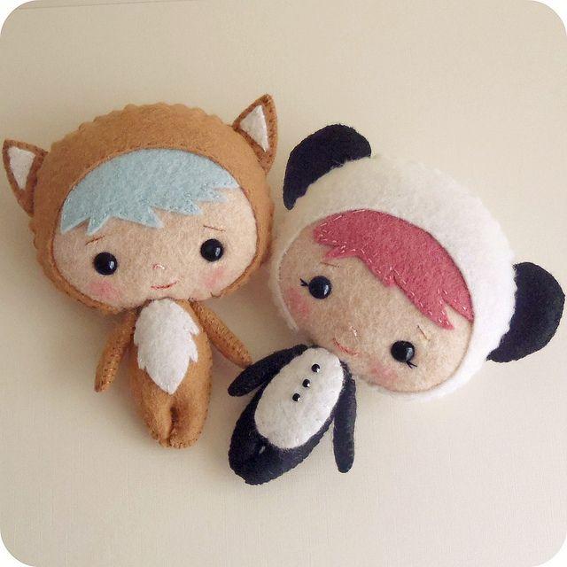 binky boo fox and panda