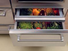 SubZero Refrigerator Drawers, Remodelista