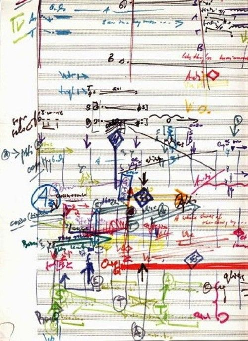 Music page from Jonny Greenwood's composition for Penderecki.