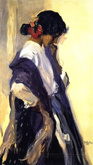 Gypsy - Joaquin Sorolla y Bastida Paintings